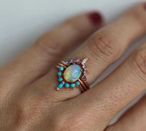 boho chic engagement rings on etsy by minimalvs