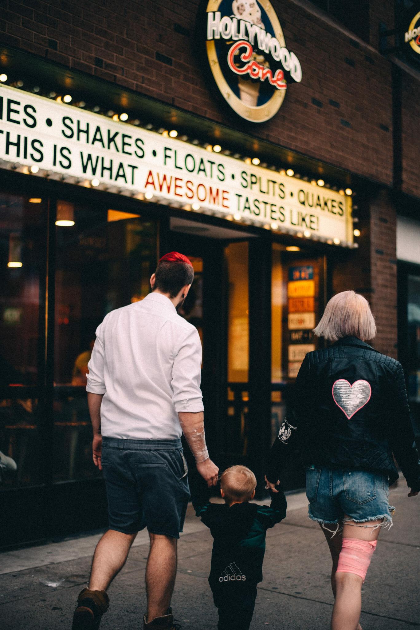 tattooed couple at hollywood cone oshawa