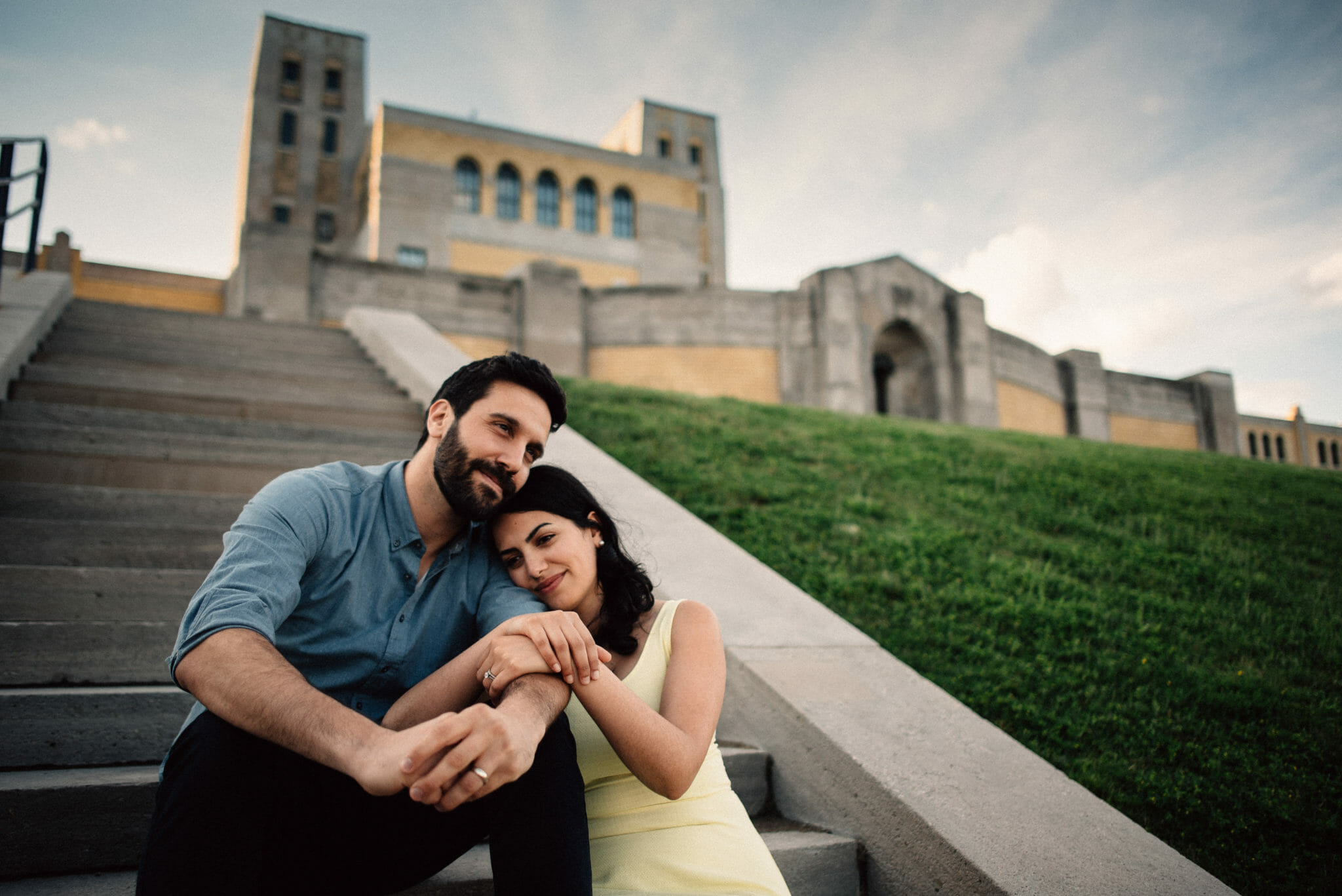 engagement photos at rc harris water plant toronto