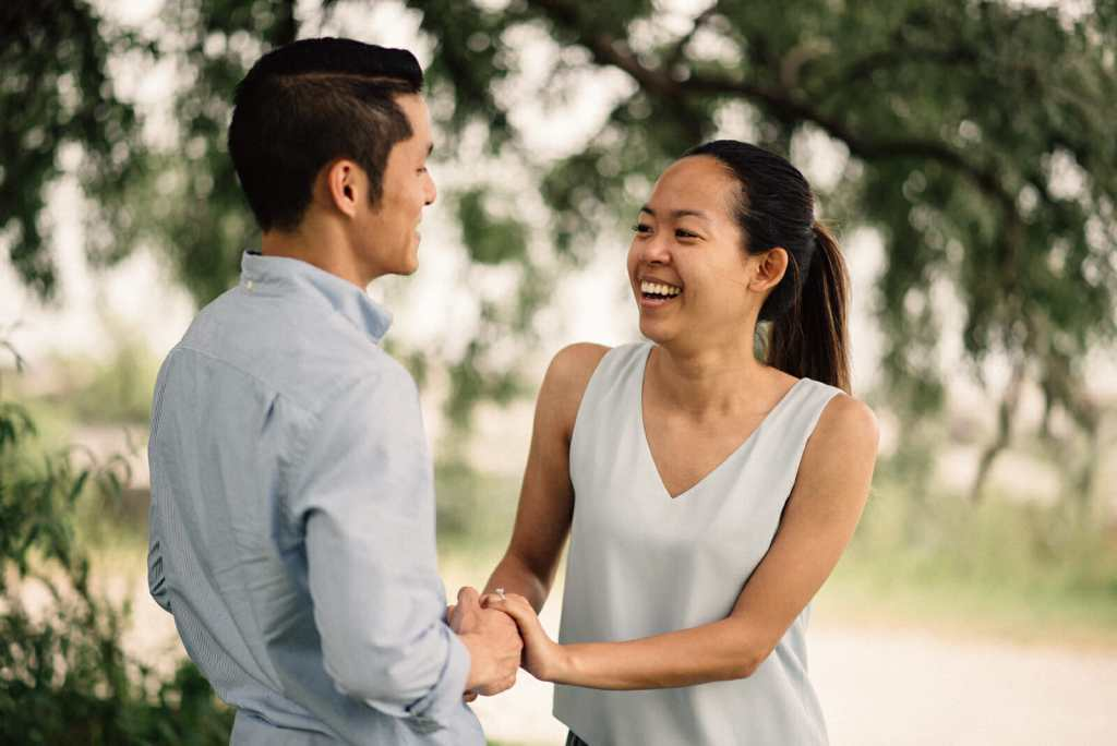 couple talks about moment they got engaged