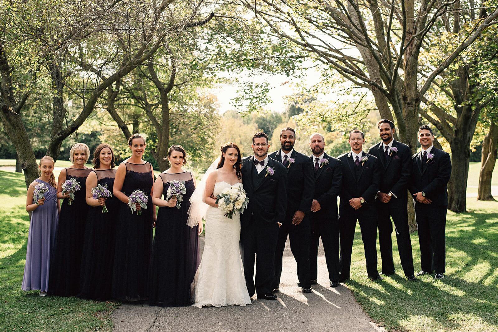 wedding party photos at kedron dells wedding venue oshawa