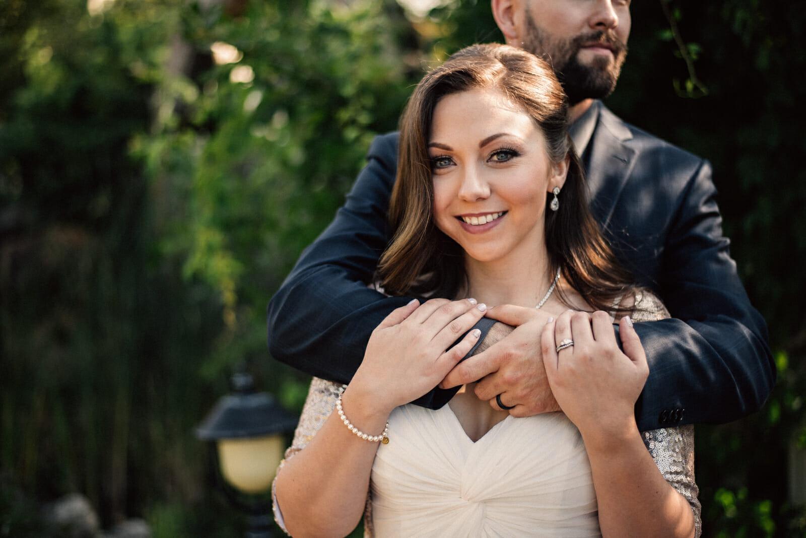 bride smiles on wedding day
