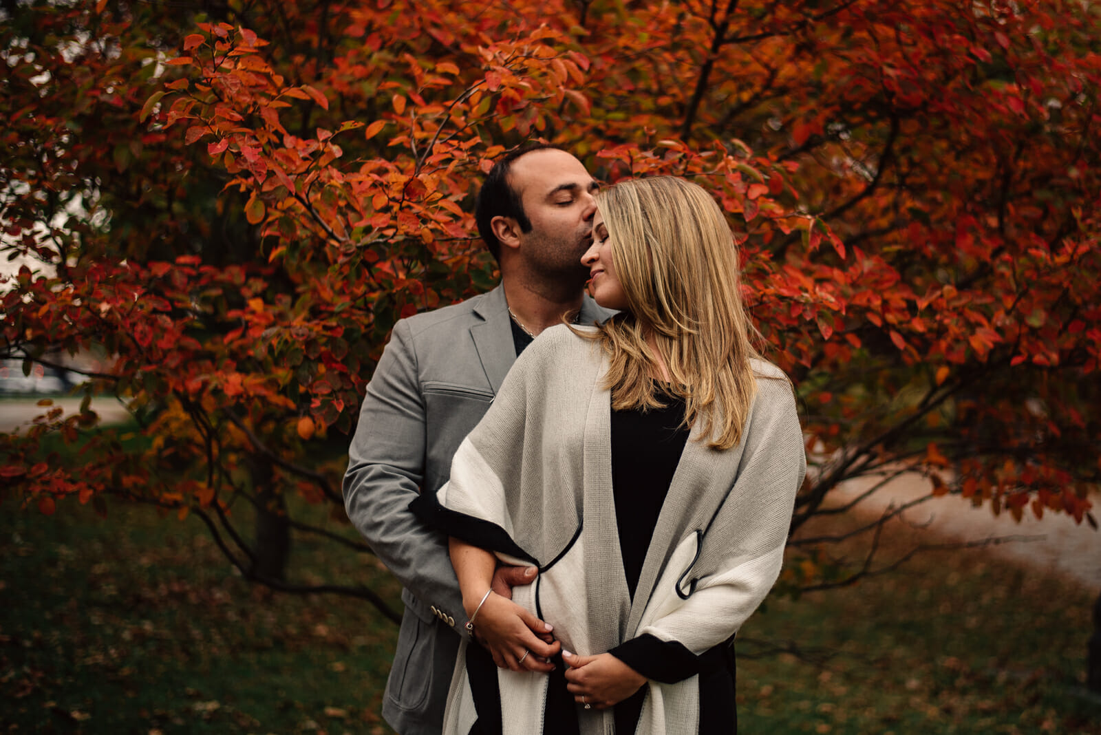 toronto fall engagement photos