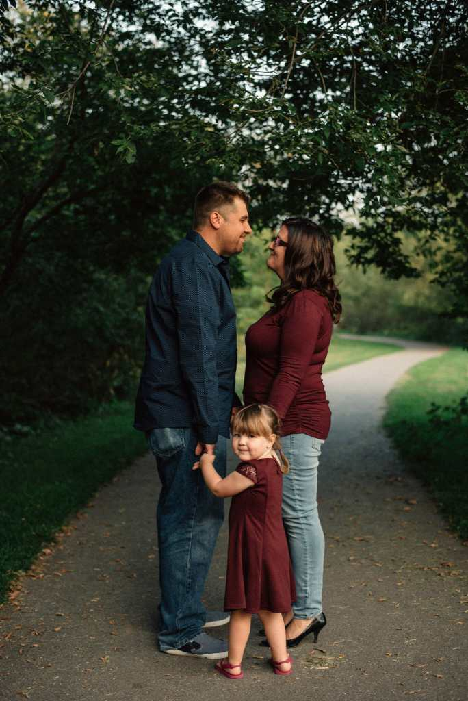 family photo captured during engagement session in whitby