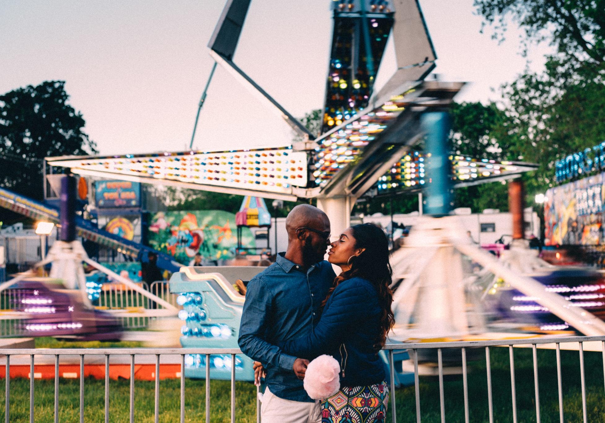 engagements photos at carnival brooklin spring fair