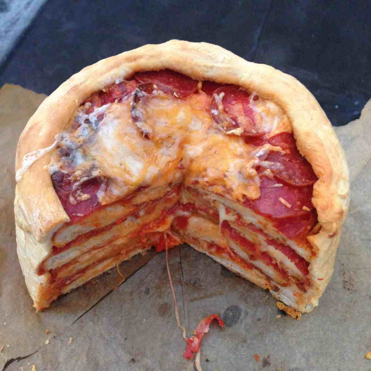 The Pepperoni Pizza Cake Chelsweets