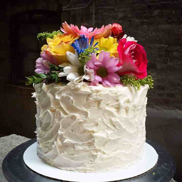 How To Floral Vanilla Birthday Cake Chelsweets