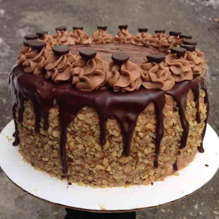 Chocolate Almond Birthday Cake Chelsweets