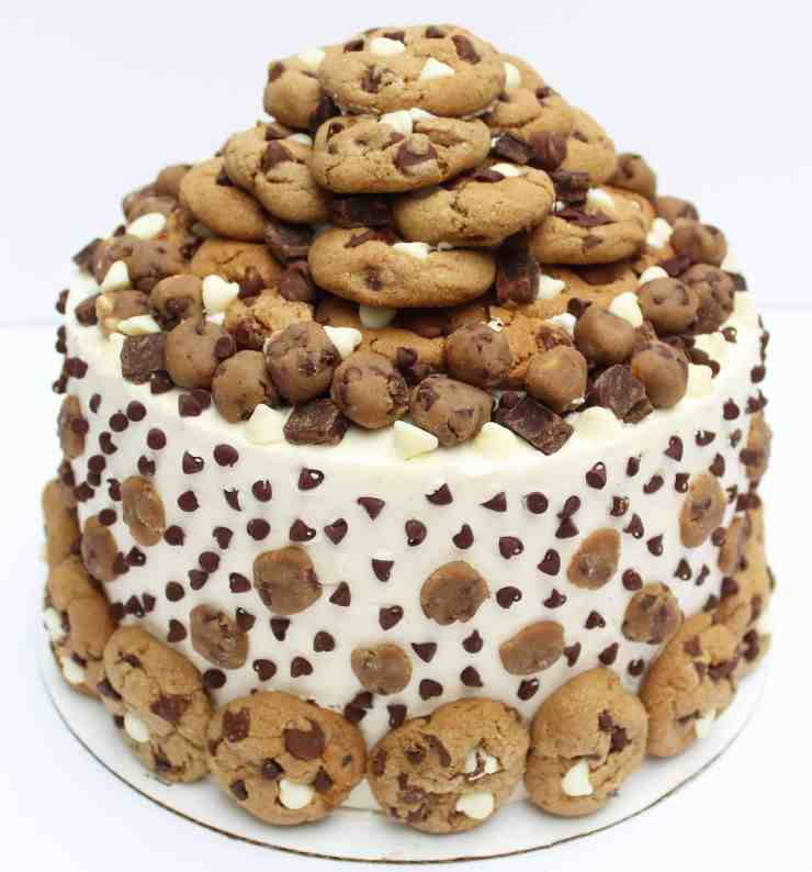 chocolate chip cookie cake ultimate chocolate chip cookie dough cake chelsweets 2852