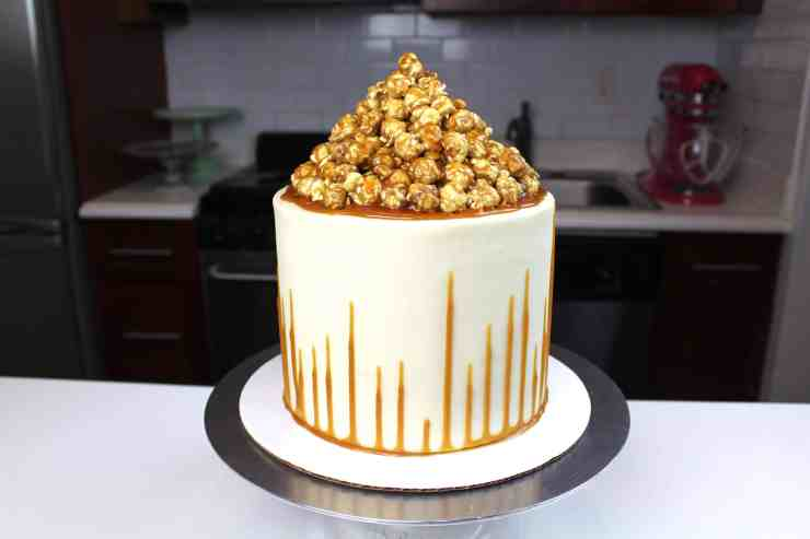 caramel corn cake photo uncut