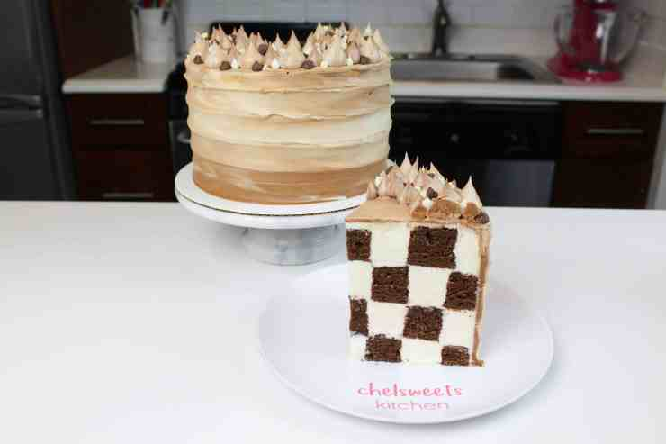 Frosting Checkerboard Cake Chelsweets
