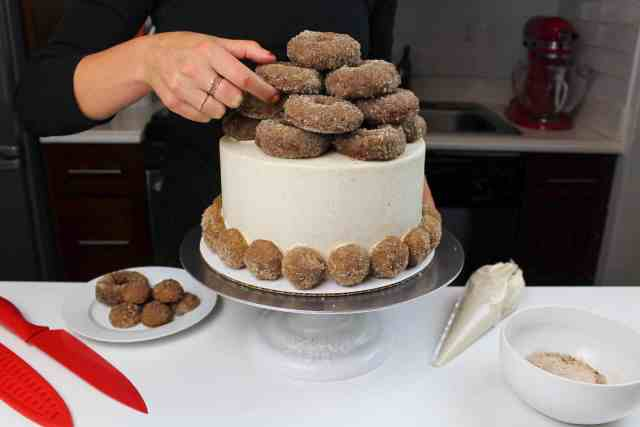 finished cake staged with rings-2