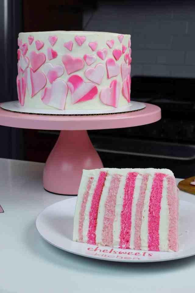 vertical sliced cake