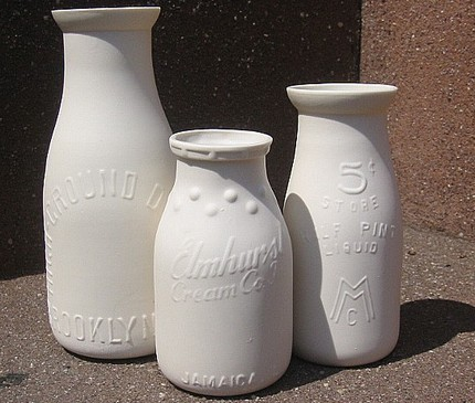 NYC themed milk bottle set from the *antique replica bottle series* by Alyssa Ettinger