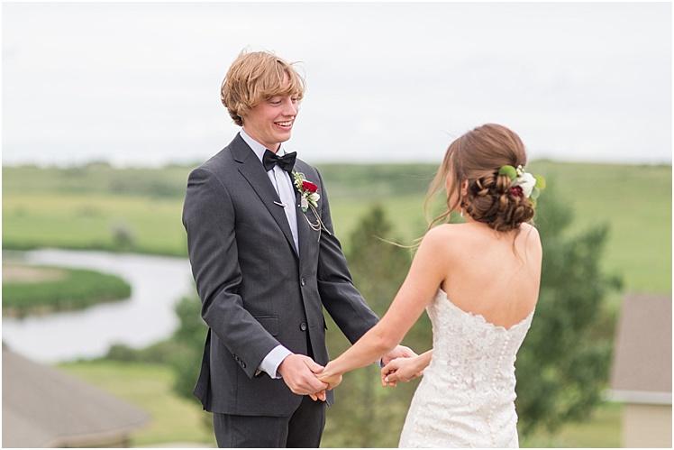 Epping, North Dakota wedding Camp UMM, boho eucalyptus