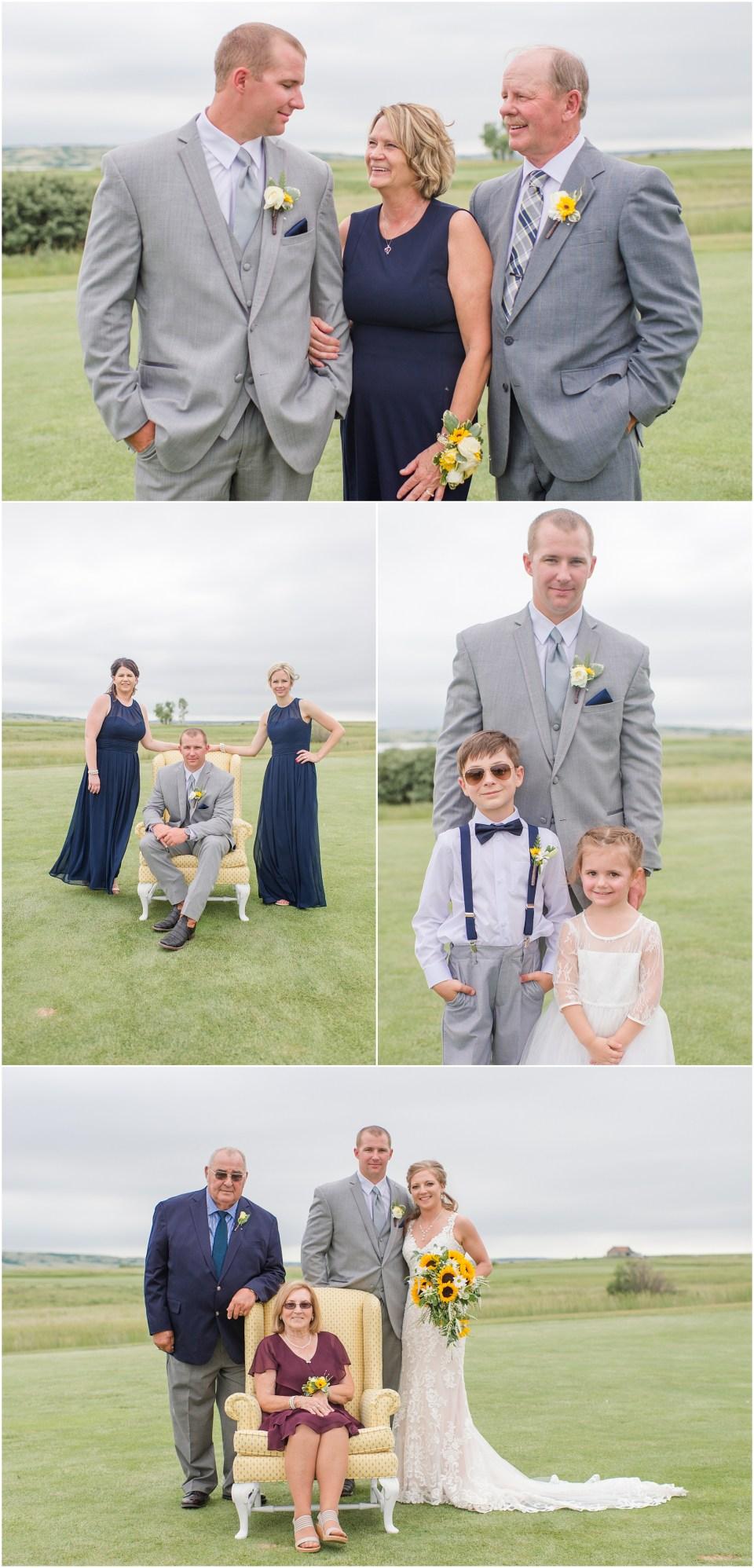 sunflower adn navy wedding the links golf course north dakota