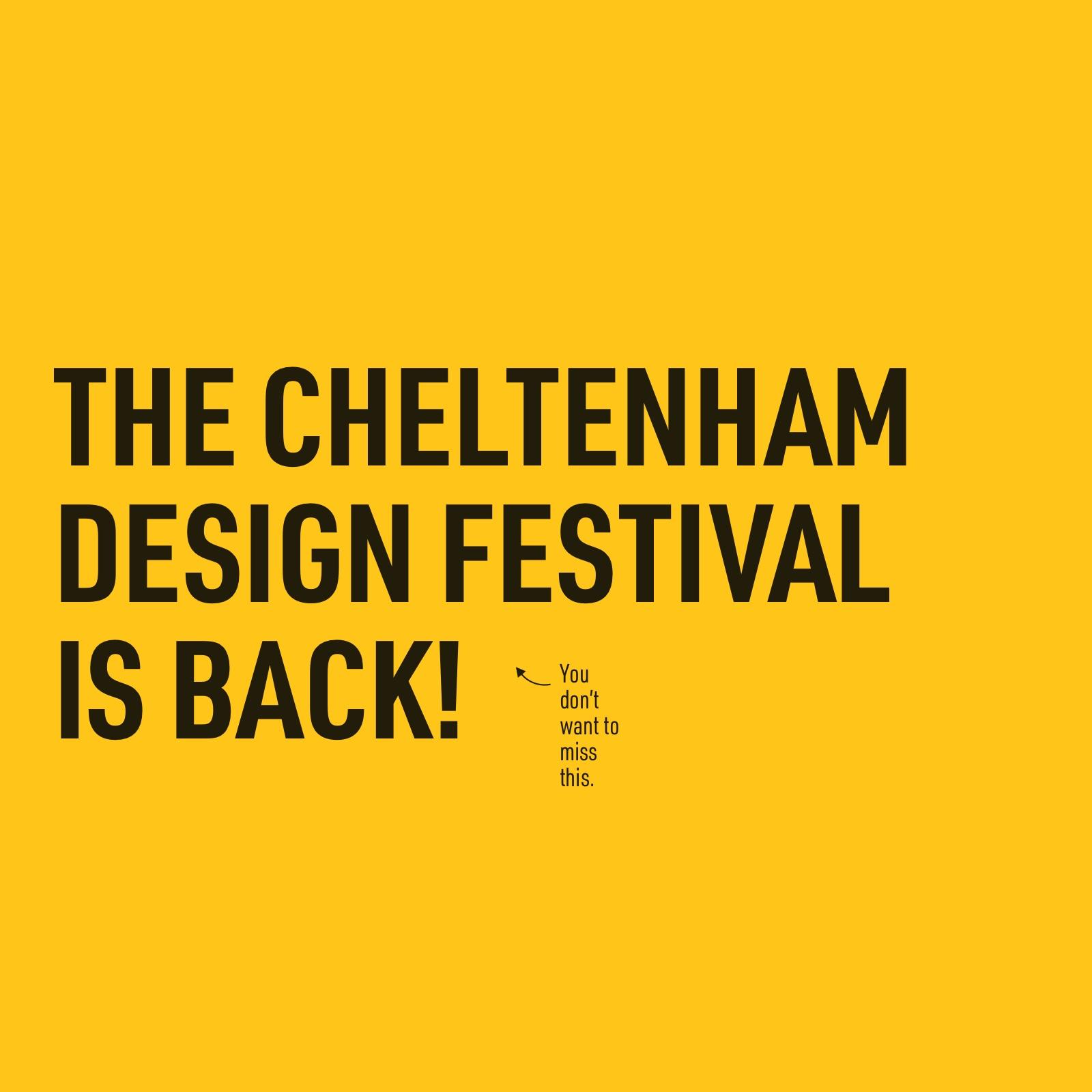 Cheltenham design festival is back