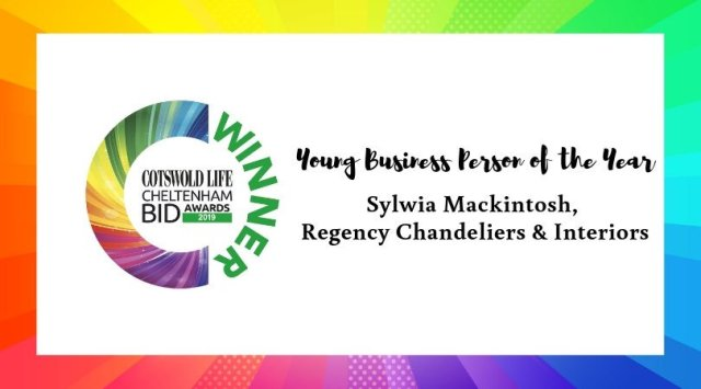 #CLCheltBIDawards Winner of Young Business Person of the Year - Regency Chandeliers & Interior
