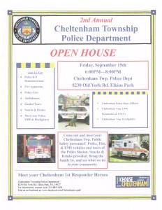 CHELTENHAM TOWNSHIP POLICE DEPARTMENT OPEN HOUSE TONIGHT FROM 6-8pm!!