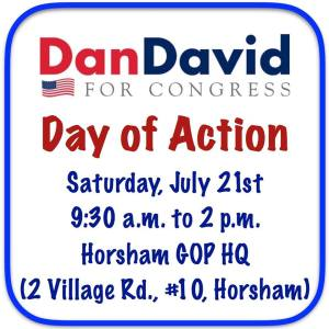 JOIN US FOR THE DAN DAVID FOR CONGRESS DAY OF ACTION THIS SATURDAY!!