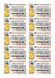 Click on this image to download a page of 10 ChUG business cards