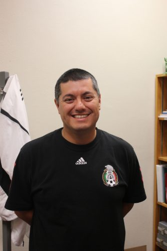 Arturo Mota, the women's soccer coach.