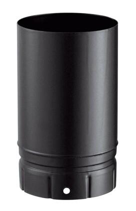 tuyau emaillee noir mat 250 mm pour poele a bois poujoulat