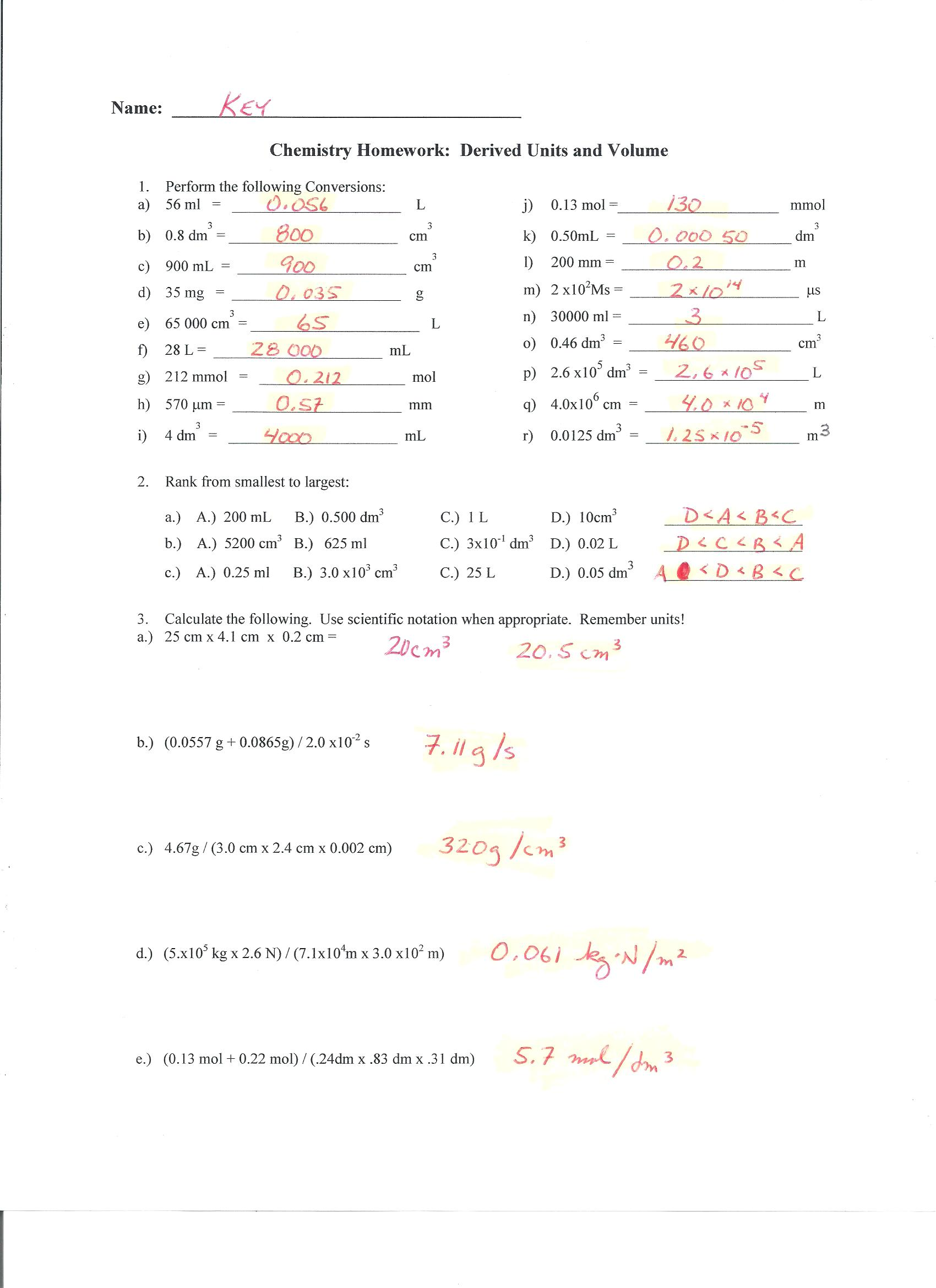 Uncertainty Worksheet Answers