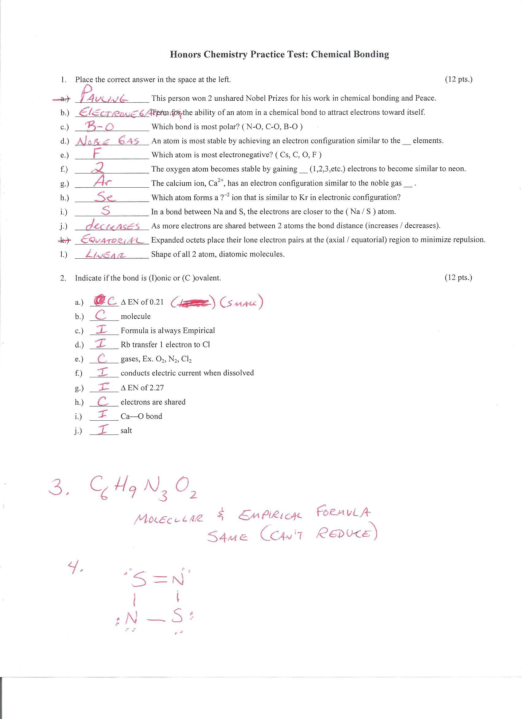 Mr D S Honors Chemistry Web Page