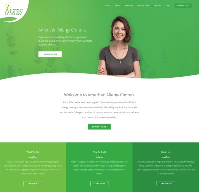 American Allergy Centers Web Design Preview