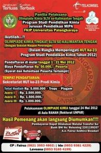 Lomba Olimpiade Kimia SMA se-Kalimantan Tengah