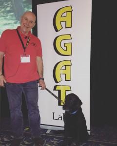 Jobi, the accelerant detection dog.