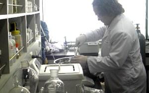 Dr. Court Sandau in the lab