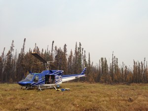 The Chemistry Matters team traveled via helicopter to wildfire site for arson investigation