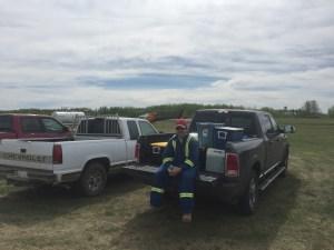 Dr. Court Sandau is prepared for sampling for wildfire debris for arson investigation