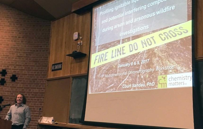 Dr. Court Sandau speaking on 2DGC