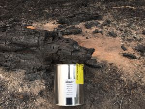 stainless steel can for fire debris analysis