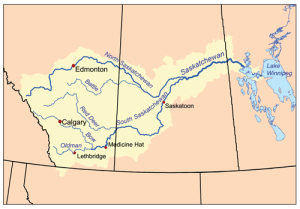 Saskatchewan River Map