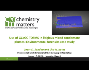 Use of GCxGC-TOFMS in litigious mixed condensate plumes: Environmental forensics case study