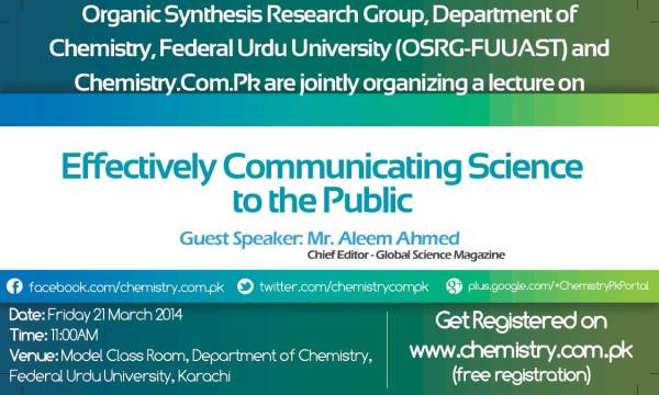 Lecture on Effectively Communicating Science to the Public