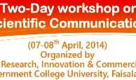Two-Day Workshop on Scientific Communication