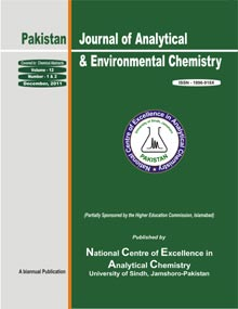 Pakistan Journal of Analytical and Environmental Chemistry