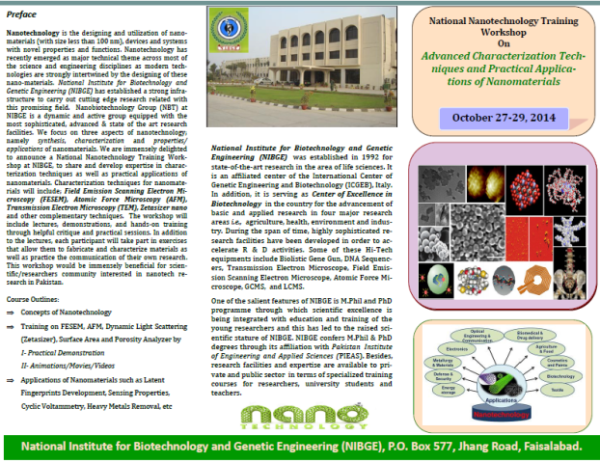 National Nanotechnology Training Workshop