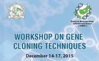 workshop on gene cloning 2015