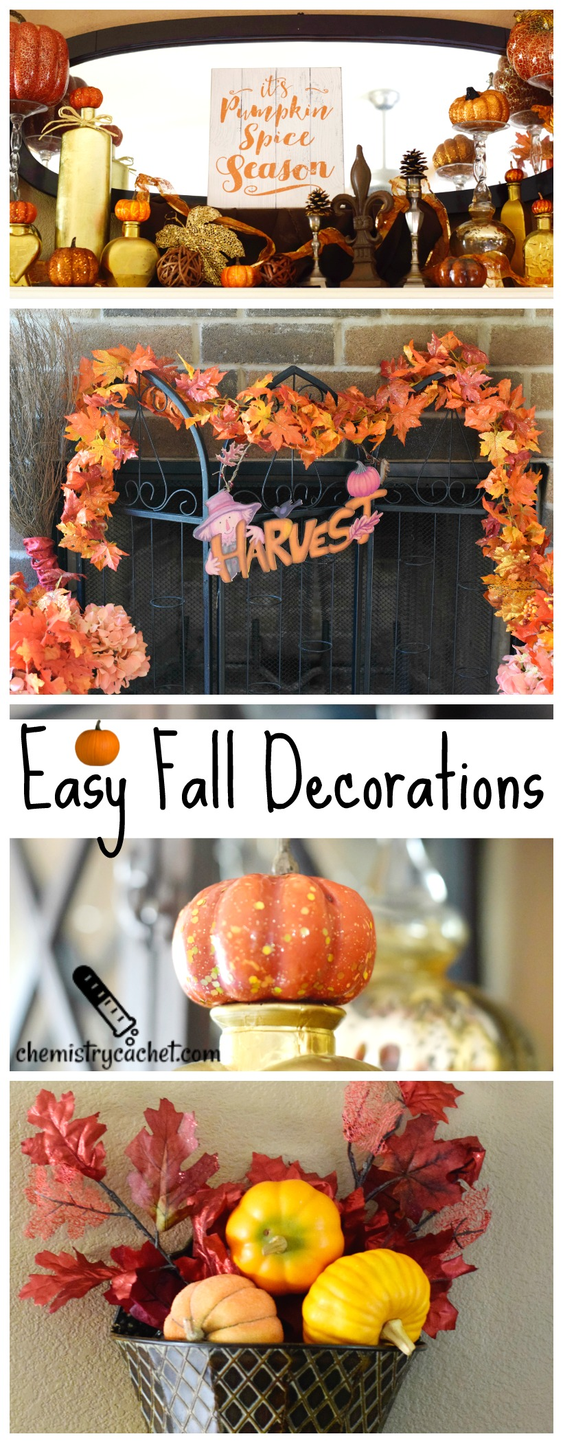 Easy Beautiful fall decorations on chemistrycachet.com