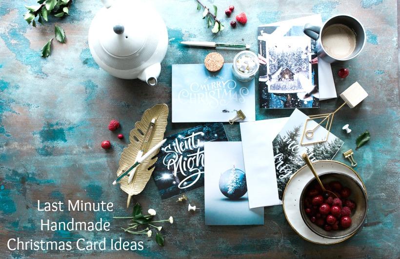 Last minute handmade Christmas card ideas