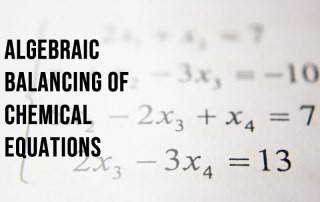 Algebraic equations used to balance harder chemical equations