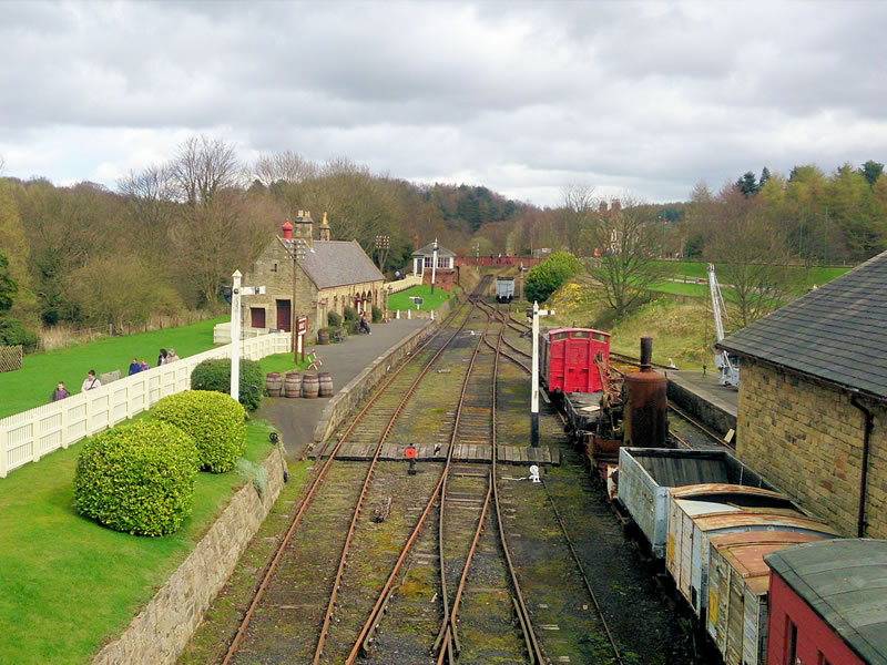 The railway at Beamish Museum