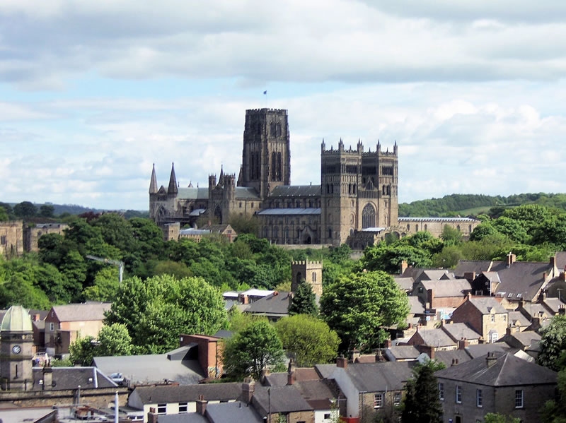Durham's famous cathedral, a world heritage site