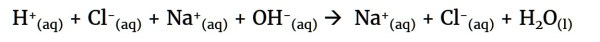 Ionic equation for neutralisation of HCl by NaOH